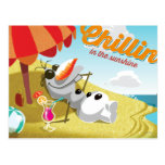 Olaf Chillin' in the Sunshine Postcards