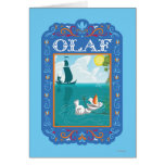 Olaf Floating in the Water Card