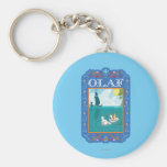 Olaf Floating in the Water Key Chain