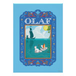 Olaf Floating in the Water Print