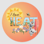 Olaf I Love the Heat Round Stickers