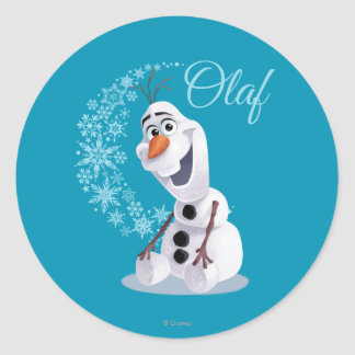 Olaf | Wave of Snowflakes Round Sticker