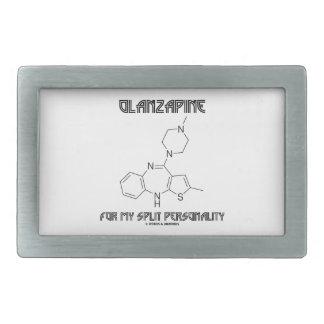 Olanzapine For My Split Personality (Chemistry) Rectangular Belt Buckle