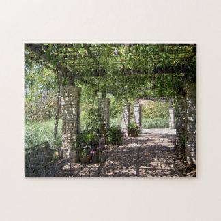 Botanical jigsaw puzzles for Garden pavilion crossword clue