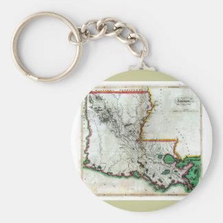 Old 1814 Louisiana Map Key Ring