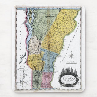 Old 1814 Vermont Map Mouse Mat