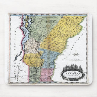 Old 1814 Vermont Map Mouse Mats