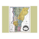 Old 1814 Vermont Map Postcards