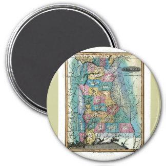 Old 1826 Alabama Map 7.5 Cm Round Magnet
