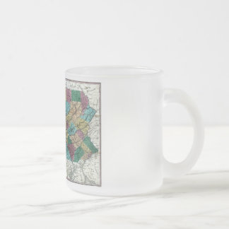 Old 1829 Pennsylvania Map Frosted Glass Mug