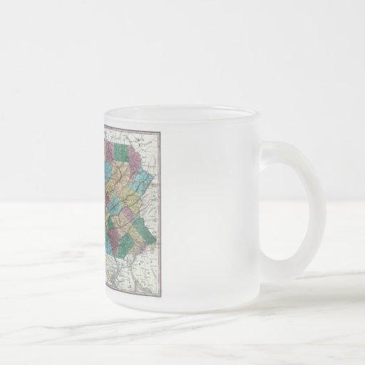 Old 1829 Pennsylvania Map Mugs