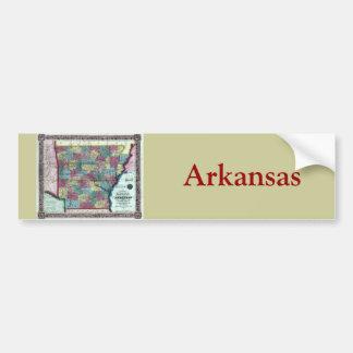 Old 1854 Arkansas Map Bumper Sticker
