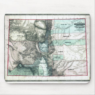 Old 1862 Colorado Map Mouse Pad