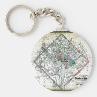 Old 1862 Washington District of Columbia Map Key Ring