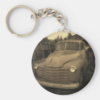 Old 48 basic round button key ring
