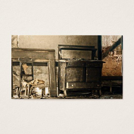 Old Abandoned Antique Furniture Business Card
