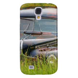 Old Abandoned Car in Field Galaxy S4 Case