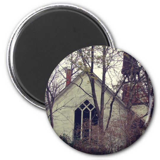 Old Abandoned Church 6 Cm Round Magnet