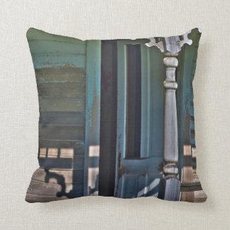 Old, abandoned homestead cushion
