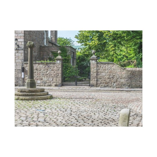 Old Aberdeen Mercat Cross canvas print