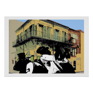 Old Absinthe House Brass Band Poster