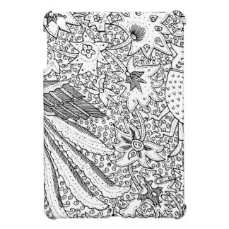 Old Abstract Textile Nature Pattern Cover For The iPad Mini