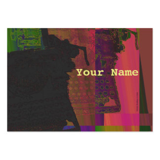 Old Abstract Typewriter Profile Card Business Cards