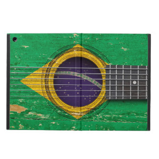 Old Acoustic Guitar with Brazilian Flag Case For iPad Air
