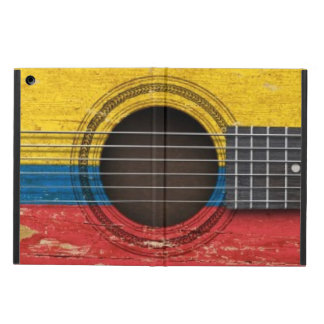 Old Acoustic Guitar with Colombian Flag iPad Air Covers