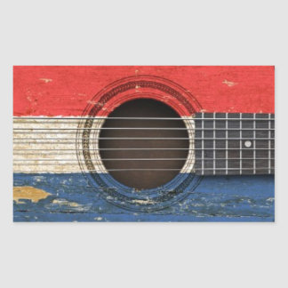 Old Acoustic Guitar with Dutch Flag Sticker