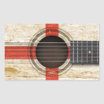 Old Acoustic Guitar with English Flag Sticker