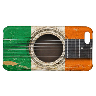 Old Acoustic Guitar with Irish Flag Cover For iPhone 5C