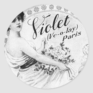 Old Advert: For My Lady's Toilet Classic Round Sticker