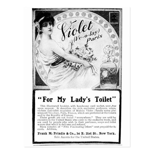 Old Advert: For My Lady's Toilet Postcard