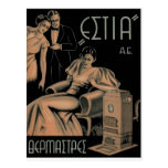 Old Advert Greece Stove Heater Postcard