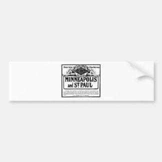 Old Advert Illinois Central Railroad Bumper Sticker