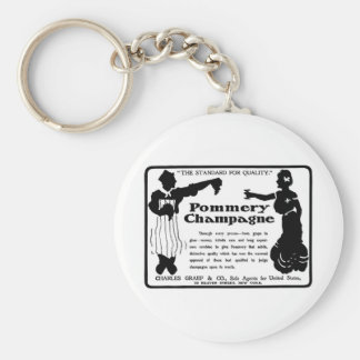 Old Advert Pommery Champagne Key Ring