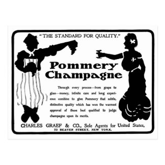 Old Advert Pommery Champagne Postcard