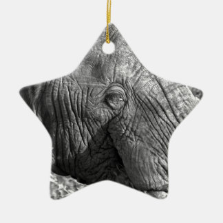 Old African Elephant Christmas Ornament