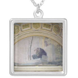 Old Age, from The Three Ages of Man, 1887 Silver Plated Necklace