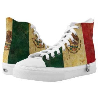 Old, Aged And Worn Grunge Flag Of Mexico Printed Shoes