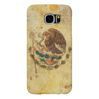 Old, Aged And Worn Grunge Flag Of Mexico Samsung Galaxy S6 Cases
