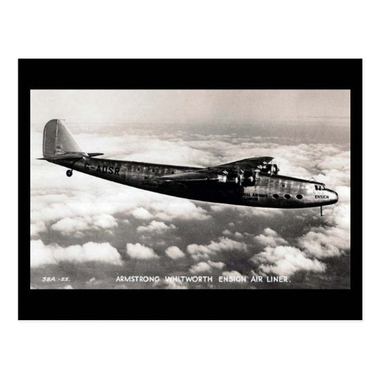 """Old Aircraft Postcard - Armstrong Whitworth """"Ensig"""
