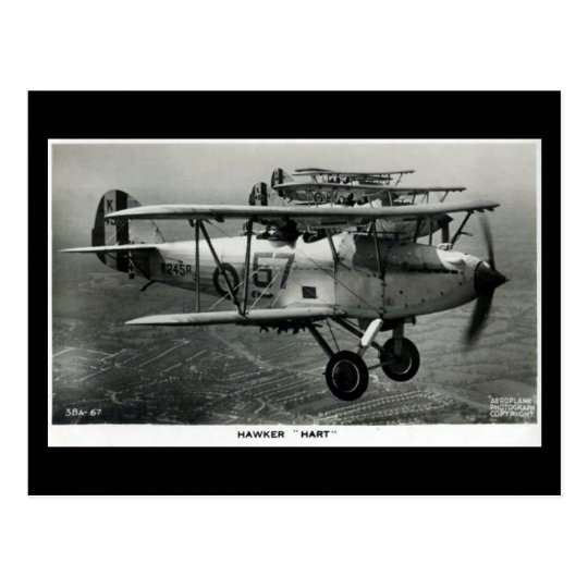 Old Aircraft Postcard - Hawker Hart