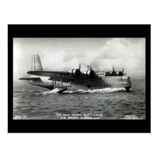 Old Aircraft Postcard - Short Sunderland Flying Bo
