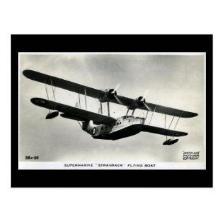 Old Aircraft Postcard - Stranraer Flying Boat