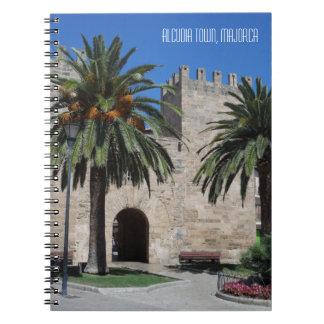 Old Alcudia Town Majorca Mallorca Spain Souvenir Notebook