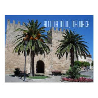Old Alcudia Town Majorca Mallorca Spain Souvenir Postcard