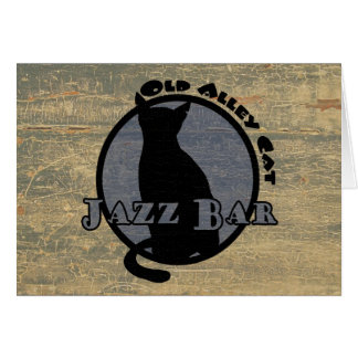Old Alley Cat Jazz Bar Card