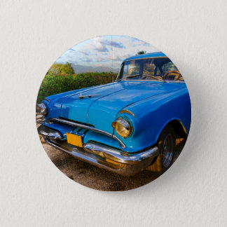 Old American classic car in Trinidad, Cuba 6 Cm Round Badge